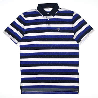 New W/ Logo Mens Ralph Lauren RLX Golf Polo X-Large XL Blue MSRP $98