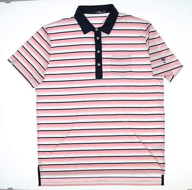 New W/ Logo Mens Ralph Lauren RLX Golf Polo X-Large XL Multi MSRP $89