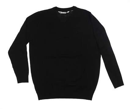 New W/ Logo Mens Travis Mathew Sweater Large L Black 1ML081 MSRP $130