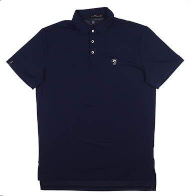 New W/ Logo Mens Ralph Lauren RLX Golf Polo Medium M Navy Blue MSRP $98