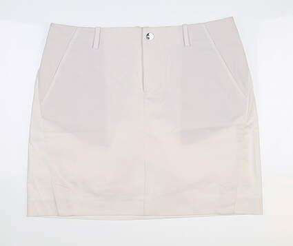 New Womens Ralph Lauren Polo Golf Skort 8 White MSRP $125