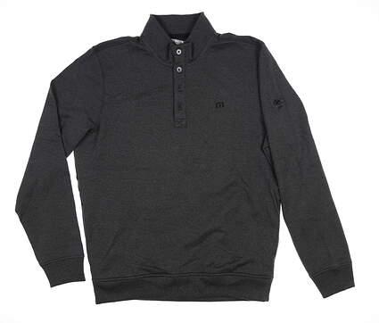 New W/ Logo Mens Travis Mathew Wall Fleece Lined Pullover Large L Gray MSRP $130