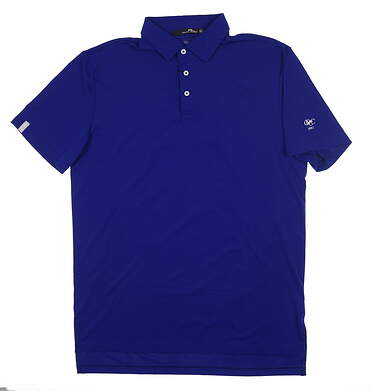 New W/ Logo Mens Ralph Lauren RLX Golf Polo Medium M Blue MSRP $98