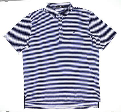 New W/ Logo Mens Ralph Lauren RLX Golf Polo Medium M Blue MSRP $98