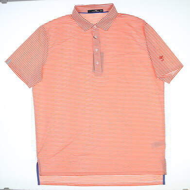 New W/ Logo Mens Ralph Lauren RLX Golf Polo X-Large XL Orange MSRP $98