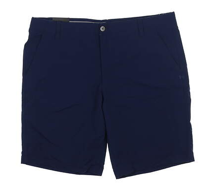 New Mens Under Armour Golf Shorts 40 Navy Blue UM8890 MSRP $75