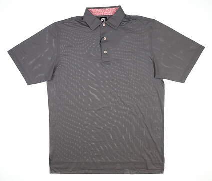 New Mens Footjoy Pique Golf Polo Large L Granite 25759 MSRP $72