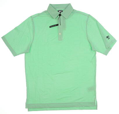 New W/ Logo Mens Footjoy Golf Polo Medium M Green 25533 MSRP $80
