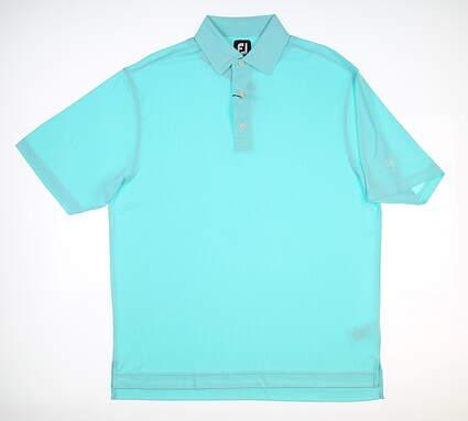 New W/ Logo Mens Footjoy Golf Polo Large L Blue 257764 MSRP $90