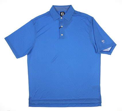 New W/ Logo Mens Footjoy Golf Polo Large L Blue 25535 MSRP $80