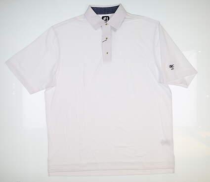 New W/ Logo Mens Footjoy Pique Golf Polo X-Large XL White 25504 MSRP $80