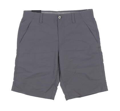 New Mens Under Armour Golf Shorts 32 Gray UM8890 MSRP $75