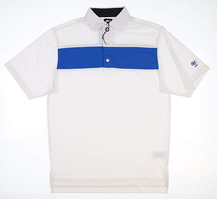 New W/ Logo Mens Footjoy Golf Polo Small S White/Blue 25548 MSRP $80