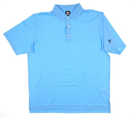 New W/ Logo Mens Footjoy Golf Polo XX-Large XXL Blue 25518 MSRP $80