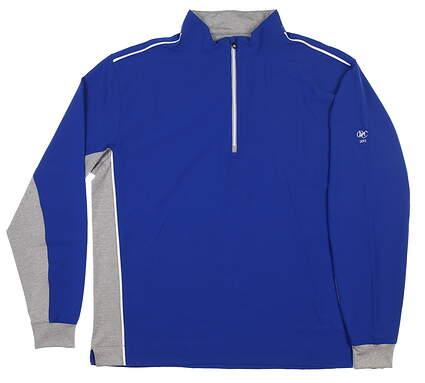 New W/ Logo Mens Footjoy 1/2 Zip Wind Pullover X-Large XL Blue 24684 MSRP $145