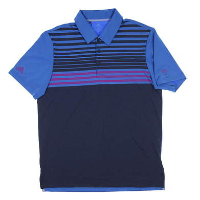 New W/ Logo Mens Adidas Ultimate Golf Polo X-Large XL Blue/Purple MSRP $75