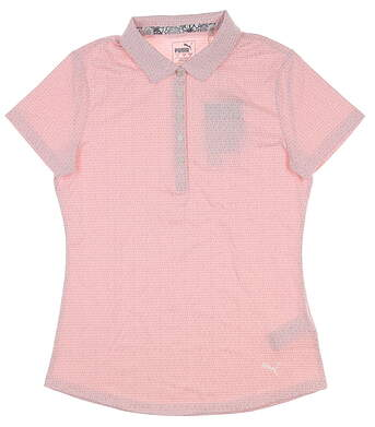 New Womens Puma W Swift Golf Polo Small S Bridal Rose 577922 MSRP $58