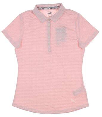 New Womens Puma W Swift Golf Polo Small S Bridal Rose 577922 MSRP $58