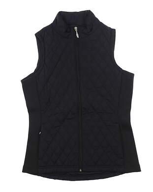 New Womens Straight Down Laurel Vest Medium M Black W10134 MSRP $120