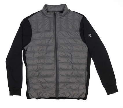 New W/ Logo Mens Straight Down Patton Jacket Medium M Gray 60380 MSRP $99