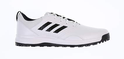 New Mens Golf Shoe Adidas CP Traxion Spikeless Medium 10.5 White/Black MSRP $80