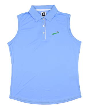 New W/ Logo Womens Footjoy Sleeveless Golf Polo Large L Blue 27075 MSRP $75