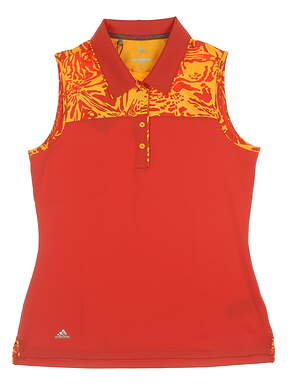 New Womens Adidas Merch Sleeveless Polo Medium M Multi CD3479 MSRP $60