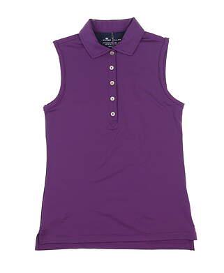 New Womens Peter Millar Sleeveless Golf Polo X-Small Purple LF17EK02D MSRP $70