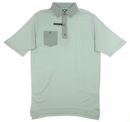 New Mens Footjoy Birdseye Jacquard Polo Medium M Gray 25742 MSRP $75