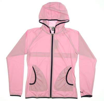 New Womens Puma Zephyr Wind Jacket Large L Pale Pink 577942 04 MSRP $75