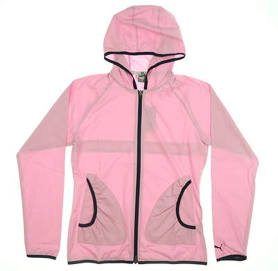 New Womens Puma Zephyr Wind Jacket Small S Pale Pink 577942 04 MSRP $75