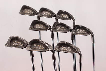 Ping Zing 2 Iron Set 3-PW LW Ping JZ Steel Stiff Right Handed Black Dot 37.75in