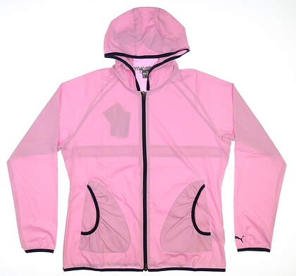 New Womens Puma Zephyr Wind Jacket X-Large XL Pale Pink 577942 04 MSRP $75