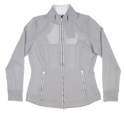 New Womens Zero Restriction Mikaela Jacket X-Large XL Silver L373L MSRP $130