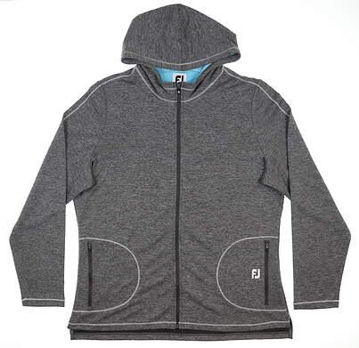 New Womens Footjoy Jersey Full Zip Sweatshirt X-Large Charcoal 27575 MSRP $125