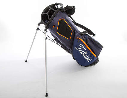 Mint 9.5 Titleist Players 4 Plus Navy/White/Hazard Stand Bag
