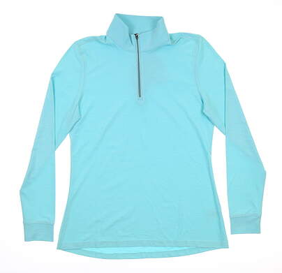 New Womens Greg Norman 1/4 Zip Pullover Small S Cool Mint G2S9K060 MSRP $70