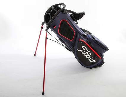 Mint 9.5 Titleist Players 4 Plus Navy/Black/Red Stand Bag