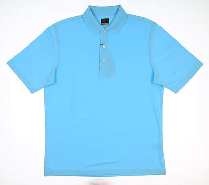 New Mens Greg Norman Pro Polo XX-Large XXL Sky Blue G7S3K440 MSRP $45