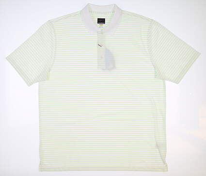 New Mens Greg Norman Pro Series Polo X-Large XL White/Green G7S9K456 MSRP $50