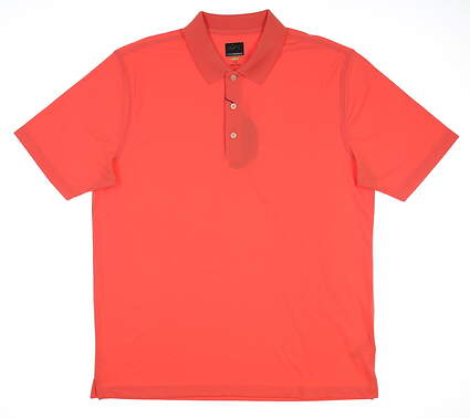 New Mens Greg Norman Pro Series Polo Large L Coral Sunrise G7S3K440 MSRP $45
