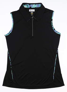 New Womens Greg Norman Fashion Sleeveless Polo Small S Multi G2S9K806 MSRP $70