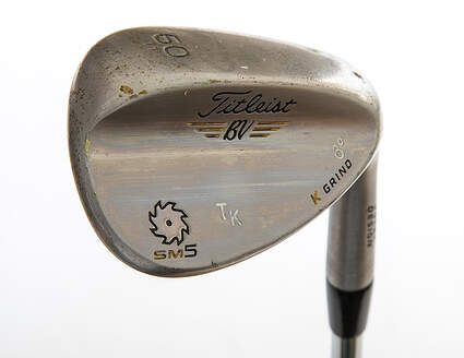 Tour Issue Titleist Vokey SM5 Tour Chrome Wedge Lob LW 60° 11 Deg Bounce K Grind Dynamic Gold Tour Issue S400 Steel Stiff Right Handed 34.25in Played by Tom Kite