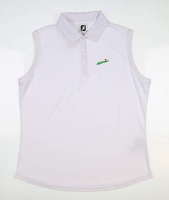New W/ Logo Womens Footjoy Sleeveless Polo X-Large White 27072 MSRP $75