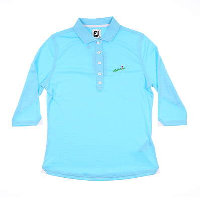 New W/ Logo Womens Footjoy Interlock 3/4 Sleeve Polo Small Multi 27586 MSRP $85