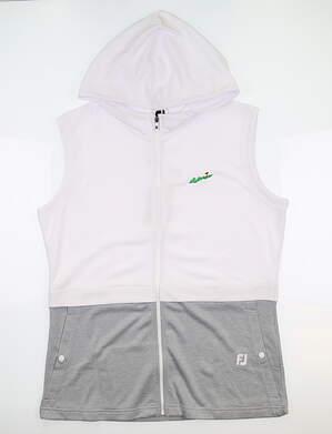 New W/ Logo Womens Footjoy Full Zip Hooded Vest Large L Multi 27574 MSRP $126