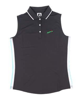 New W/ Logo Womens Footjoy Sleeveless Polo Medium M Multi 25467 MSRP $82