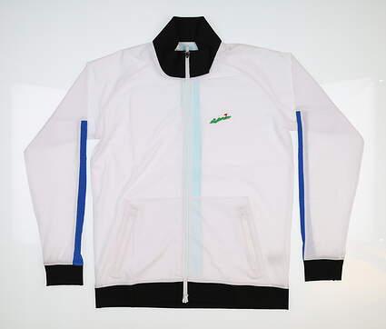 New W/ Logo Womens Footjoy Stretch Woven Jacket X-Small Multi 27571 MSRP $95