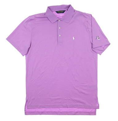 New W/ Logo Mens Ralph Lauren Performance Polo Medium M Purple MSRP $95