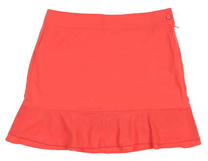 New Womens EP Pro Mesh Overlay Golf Skort 12 Ripe Melon 1440NDD MSRP $95